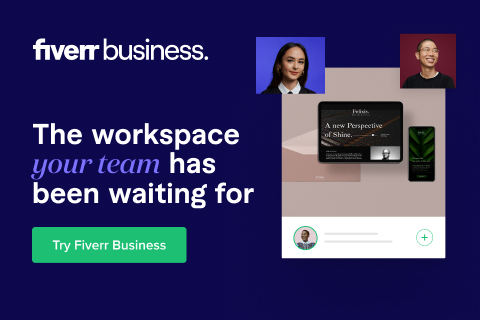 Sign up to Fiverr Business